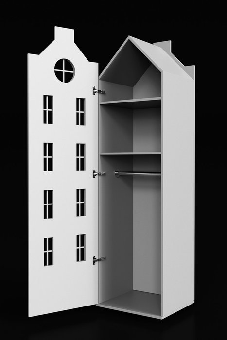 Шкаф-домик Стокгольм Maxi сливового цвета