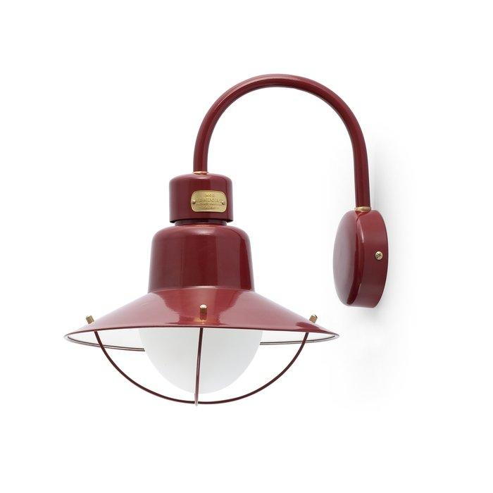 Настенный уличный светильник Faro Newport из металла и стекла зеленый