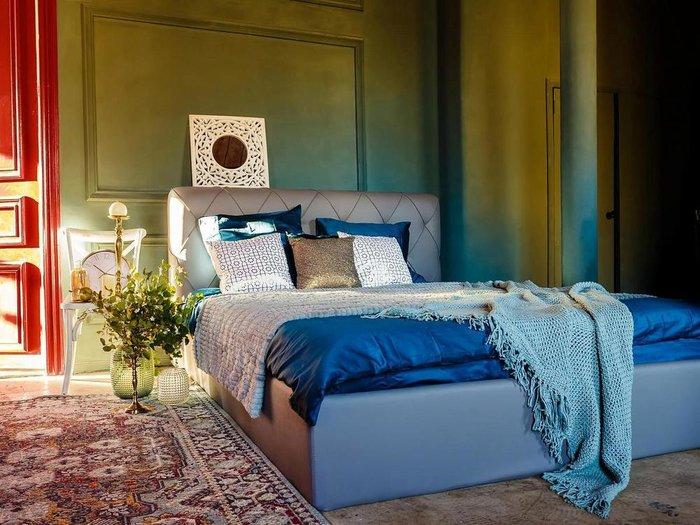 Кровать Ember светло-бежевого цвета 160х200