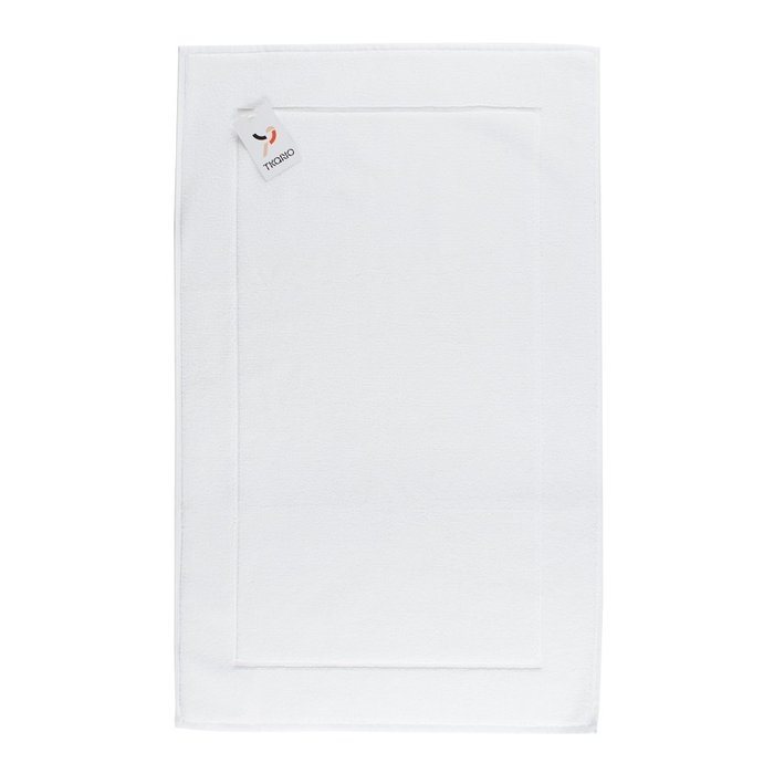 Коврик для ванной из хлопка белого цвета 50х80