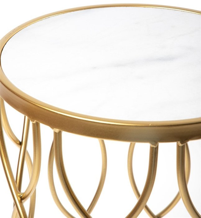 Столик интерьерный с белым мрамором