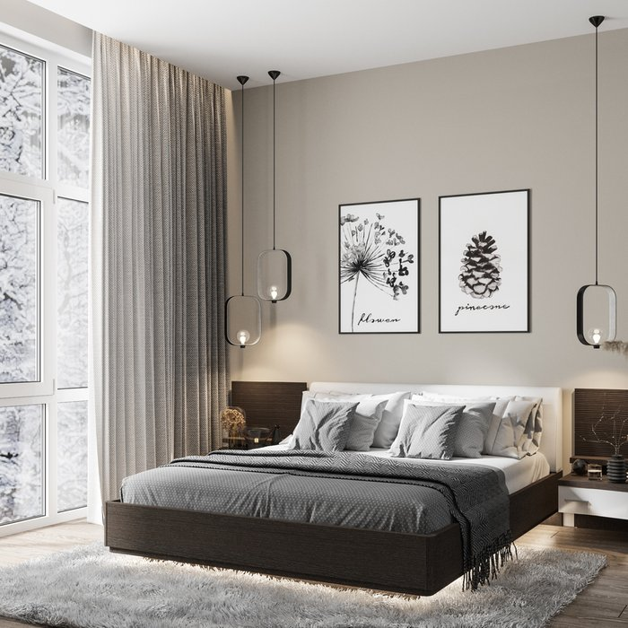 Кровать Элеонора 180х200 с изголовьем белого цвета и подъемным механизмом