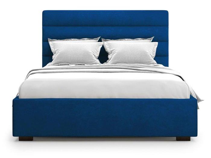 Кровать с подъемным механизмом Karezza 180х200 синего цвета