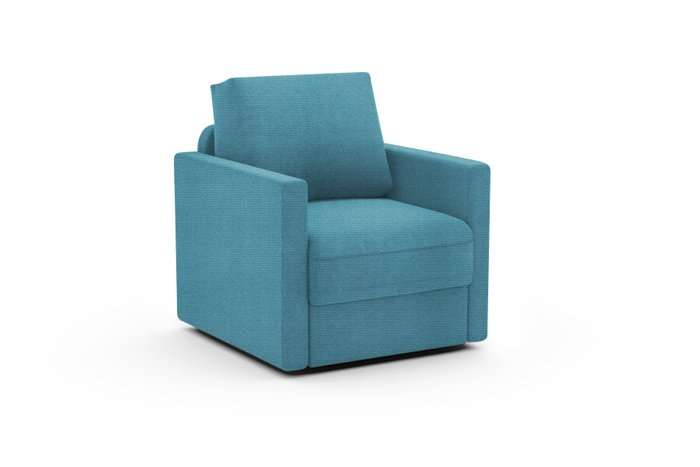 Кресло Винс голубого цвета