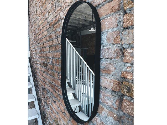 Настенное зеркало Ванда 50х120 в раме черного цвета