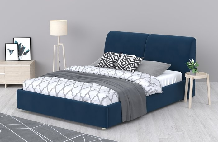 Кровать Бекка 160x200 желтого цвета