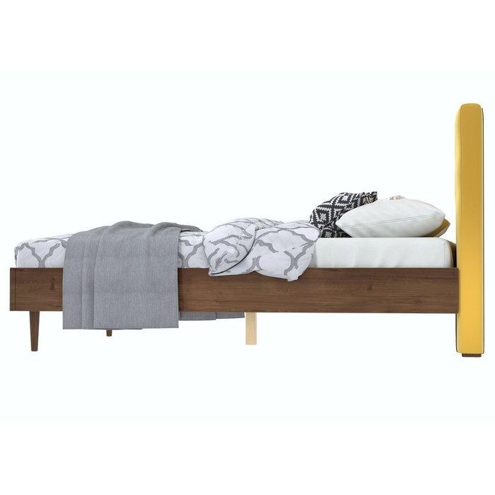 Кровать Альмена 180x200 коричнево-желтого цвета