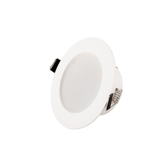 Точечный встраиваемый светильник из пластика