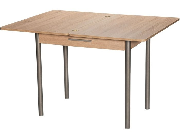 Стол раздвижной светло-коричневого цвета