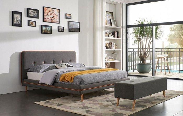 Кровать Madeira 180x200 серо-коричневого цвета