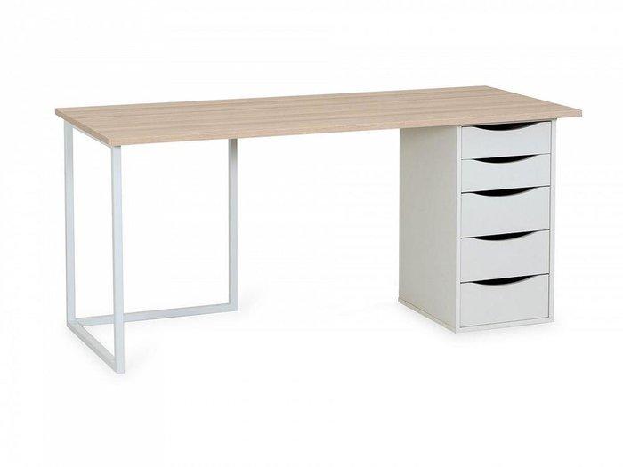 Письменный стол Board со столешницей цвета Дуб Сонома глянец