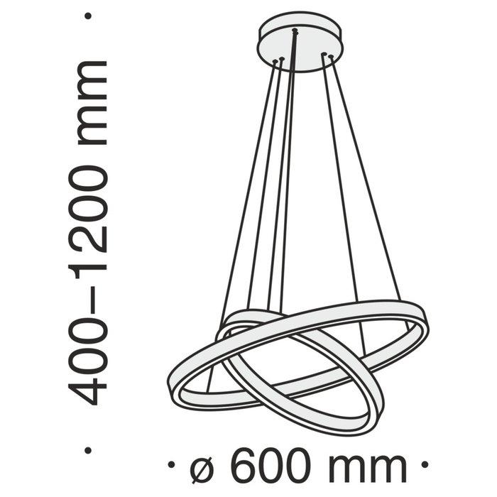 Подвесная люстра Rim из алюминия цвета латунь