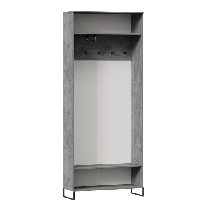 Шкаф двухстворчатый Сидней серо-коричневого цвета