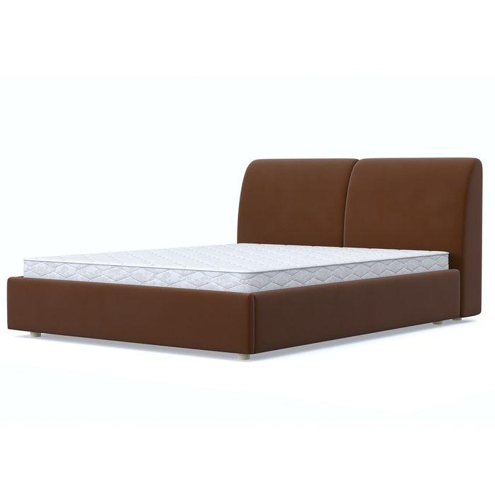 Кровать Бекка 140x200 темно-коричневого цвета