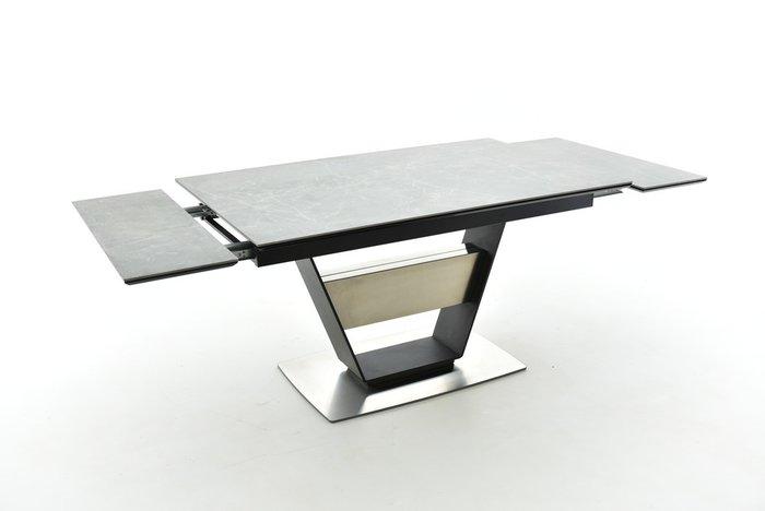 Раздвижной обеденный стол Мальта с серой столешницей