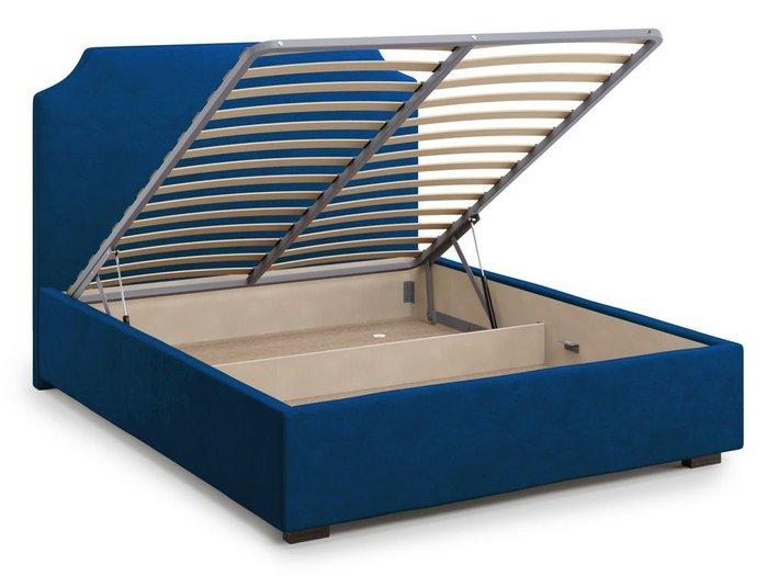 Кровать Izeo с подъемным механизмом 180х200 синего цвета