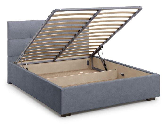 Кровать Garda 140х200 серого цвета с подъемным механизмом