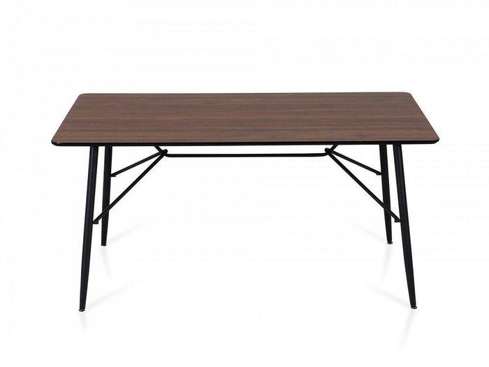 Обеденный стол Frame с темно-коричневой столешницей
