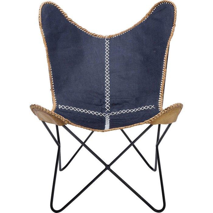 Кресло Butterfly синего цвета
