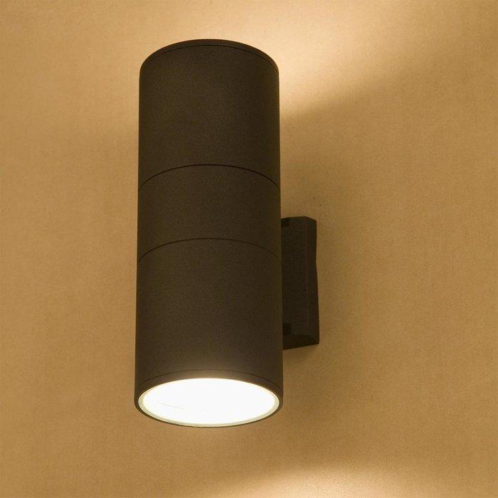 Уличный настенный светильник Fog черного цвета