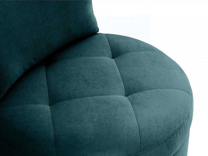 Кресло Wing Round сине-зеленого цвета