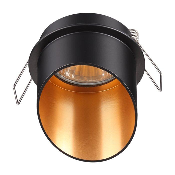Встраиваемый светильник Butt черного цвета