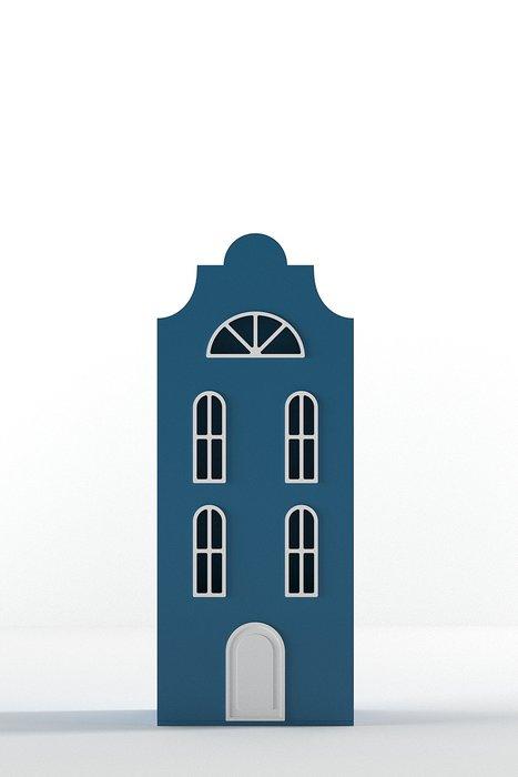 Шкаф-домик Стокгольм Mini темно-синего цвета