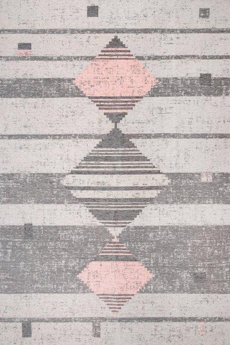 Ковер Line Caravan серо-розового цвета 135х200