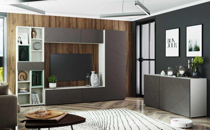 Шкаф распашной правый Селеста цвета софт графит