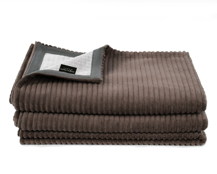 Покрывало Uno Cilium Chocolat 140x210 темно-коричневого цвета
