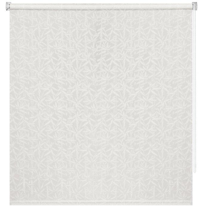 Рулонная штора Миниролл Бамбук молочного цвета 40x160