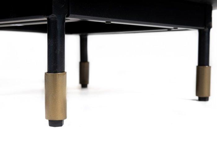 Тумба Royal Glossy черно-белого цвета