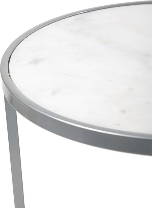 Кофейный столик с белой мраморной столешницей