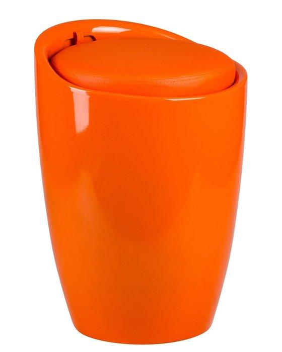 Табурет с местом для хранения оранжевого цвета