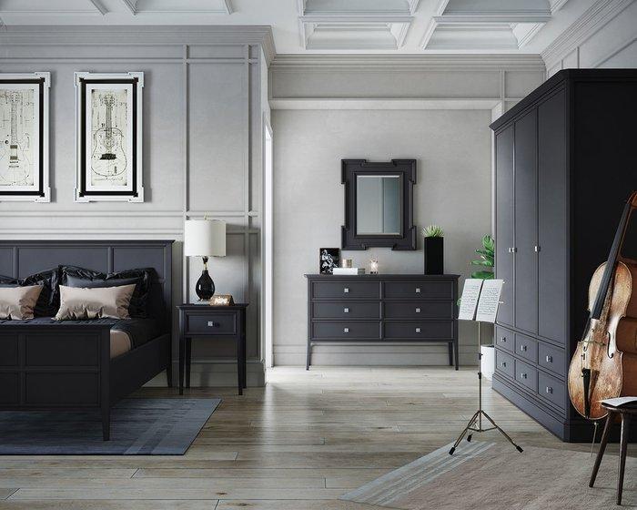Кровать Ellington черного цвета c изножьем 180х200