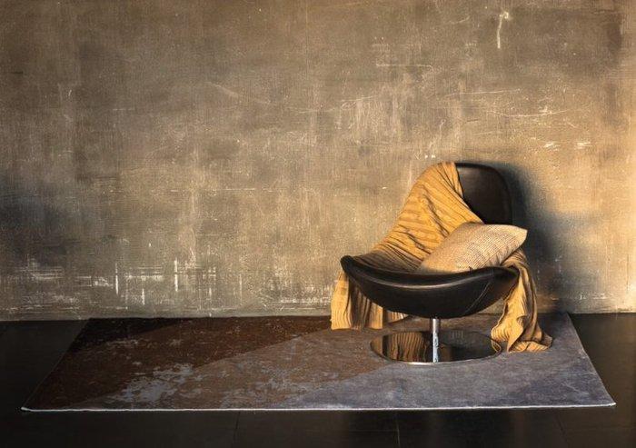 Хлопковый ковер Arcobaleno 152х228 бежево-коричневого цвета