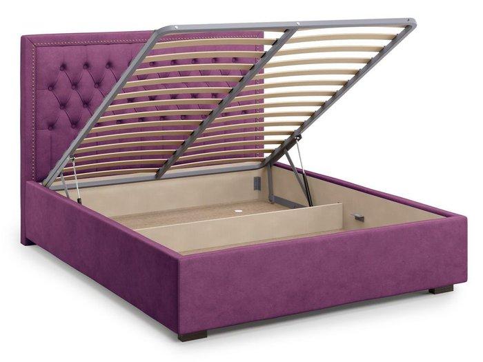 Кровать с подъемным механизмом Orto 160х200 фиолетового цвета