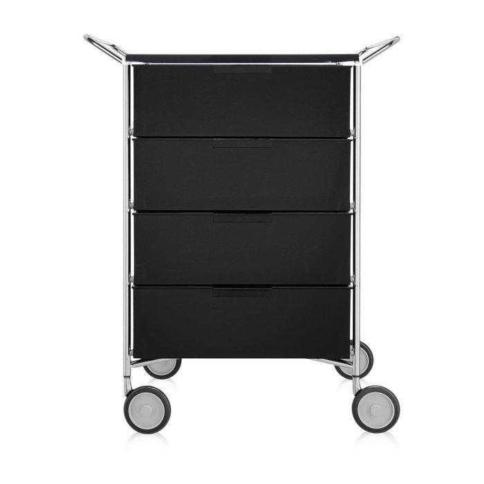 Комод Mobil темно-серого цвета на колесах