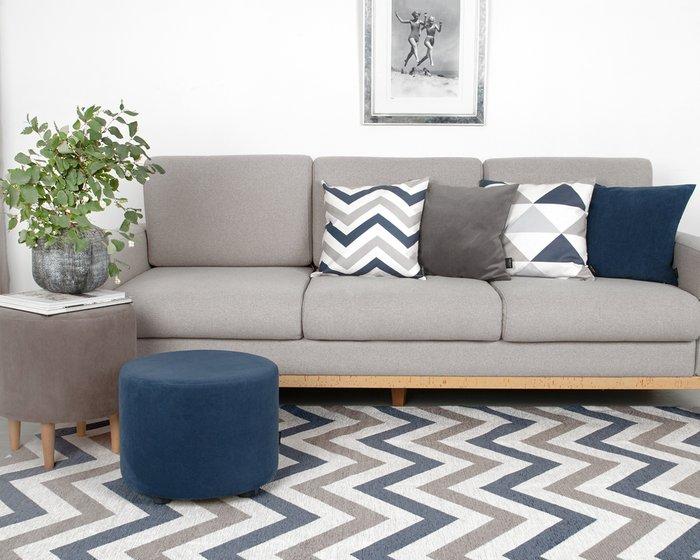 Ковер Line Lokky серо-синего цвета 80х150