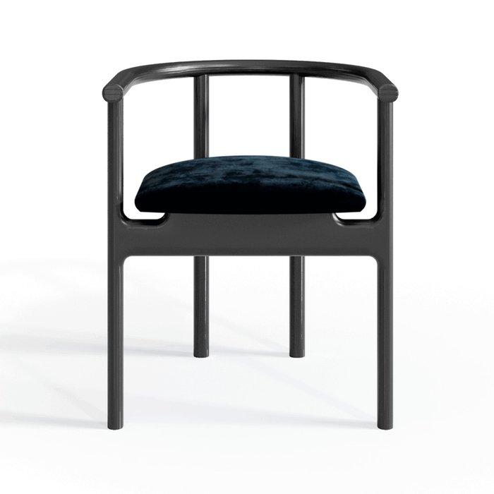 Полукресло Inge black/velvet black с мягким сидением
