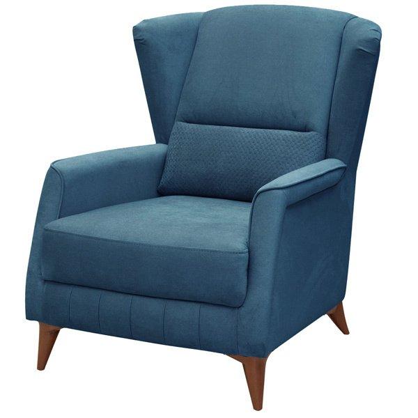 Кресло Эшли синего цвета