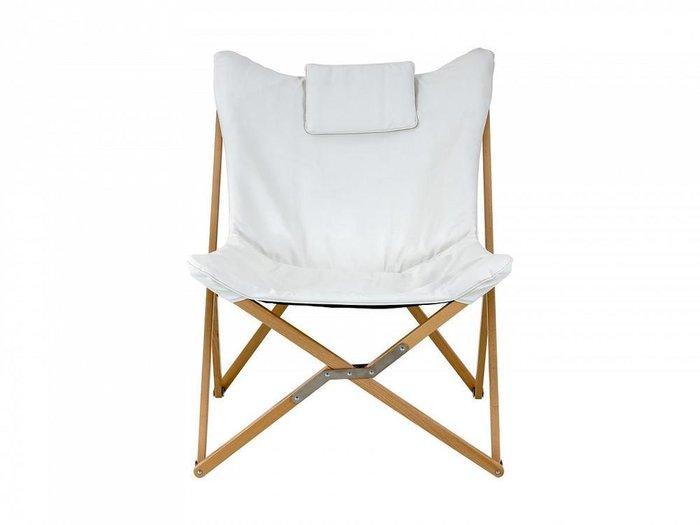Кресло шезлонг Shato белого цвета