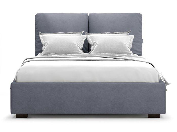 Кровать Trazimeno 180х200 серого цвета с подъемным механизмом