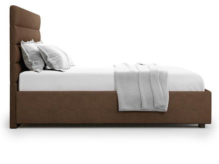 Кровать с подъемным механизмом Karezza 160х200 коричневого цвета