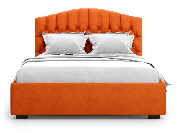 Кровать с подъемным механизмом Lugano 160х200 оранжевого цвета