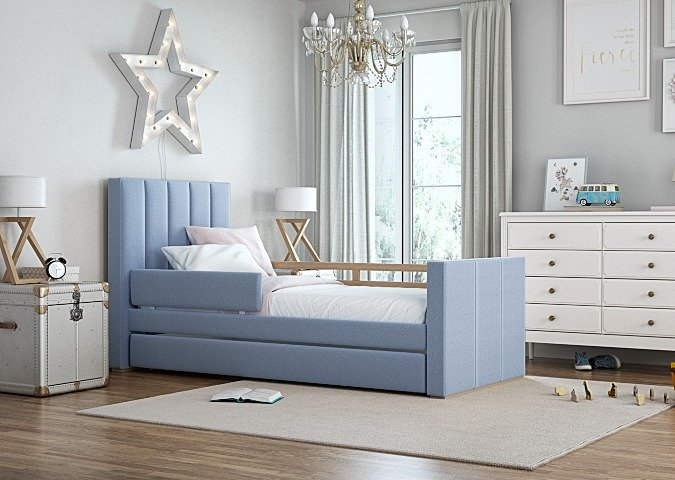 Кровать Cosy спальное место 90х200 голубого цвета