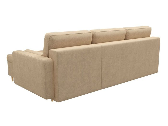 Угловой диван-кровать Белфаст бежевого цвета