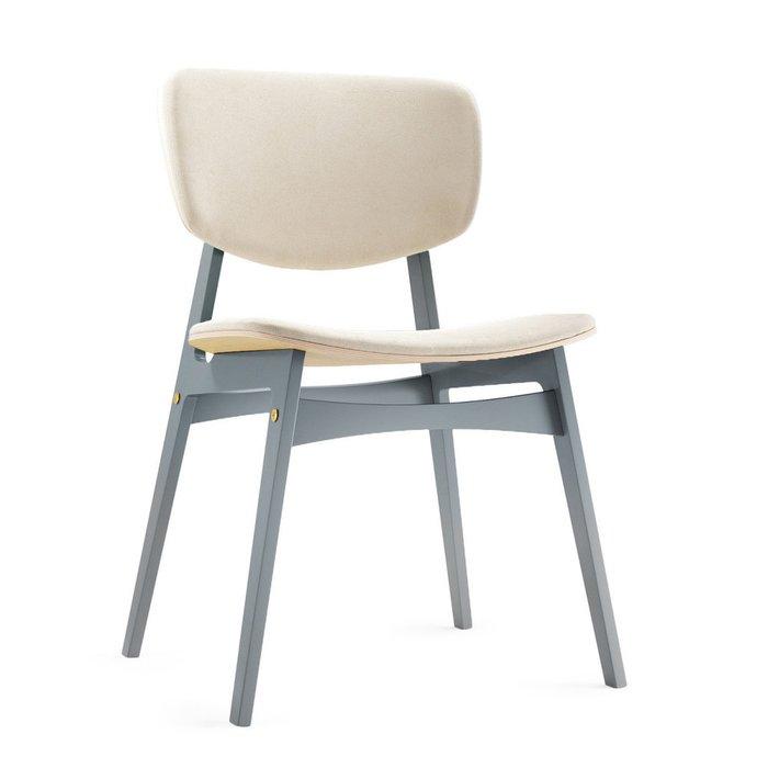 Мягкий стул Sid с обивкой молочного цвета