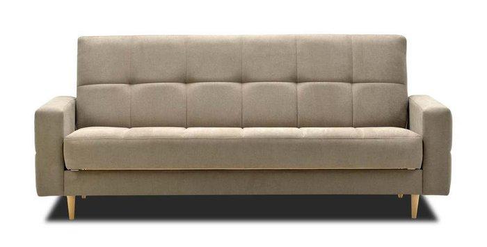 Диван-кровать Виконт серо-бежевого цвета