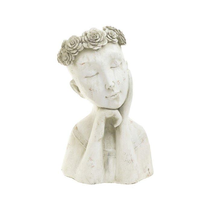 Кашпо-статуэтка белого цвета